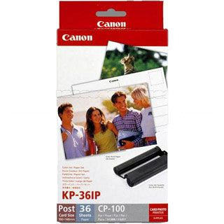 Canon KL-36IP photo paper inkjet 89x119mm 36 Blatt with ink cassette