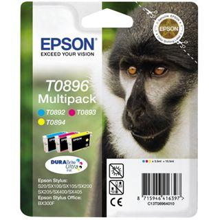 Epson T0896 Tintenpatrone dreifarbig kleine Kapazität 3 x 3.5ml