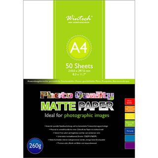 WinTech SG-260-A4 Fotopapier 29.7x21 cm (50 Blatt)