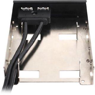 """Silverstone 2x USB 3.0 inkl. 2,5"""" Halterung schwarzes Frontpanel"""