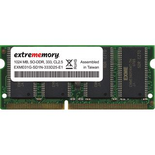 1GB Extrememory Value DDR-333 SO-DIMM CL2.5 Single