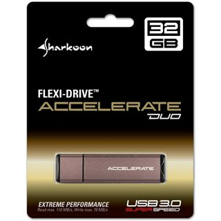 32 GB Sharkoon Flexi-Drive Accelerate Duo grau USB 3.0