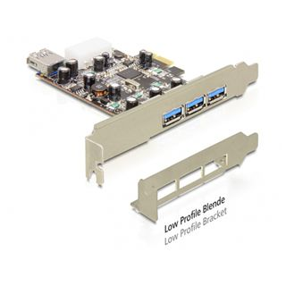 Delock 89281 4 Port PCIe 2.0 x1 retail