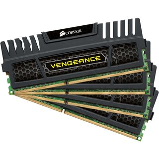 16GB Corsair Vengeance schwarz DDR3-1600 DIMM CL9 Quad Kit