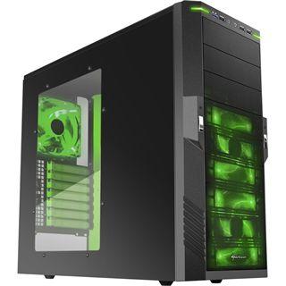Sharkoon T9 Value Green Edition Midi Tower ohne Netzteil schwarz/gruen