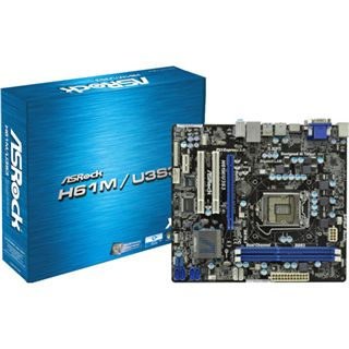 ASRock H61M/U3S3 Intel H61 So.1155 Dual Channel DDR3 mATX Retail