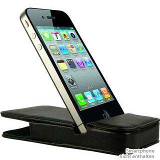 Inter-Tech PI-10024 Leder Tasche für iPhone 4/iPhone 4s schwarz