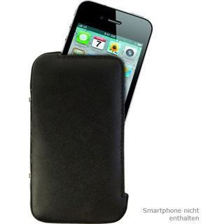 Inter-Tech PI-10464 Leder Flip-Cover für iPhone 4/iPhone 4s