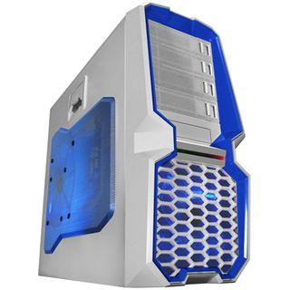 Raidmax Blackstorm Midi Tower ohne Netzteil weiss/blau