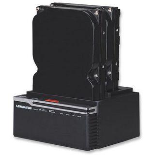 Manhattan SuperSpeed USB 3.0 auf Dual SATA Kopierstation für