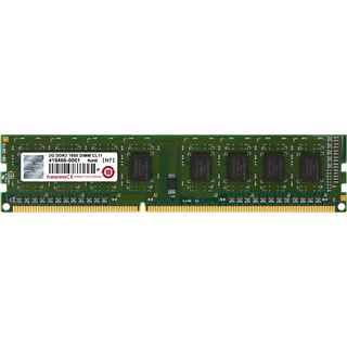 2GB Transcend JetRAM DDR3-1600 DIMM CL11 Single