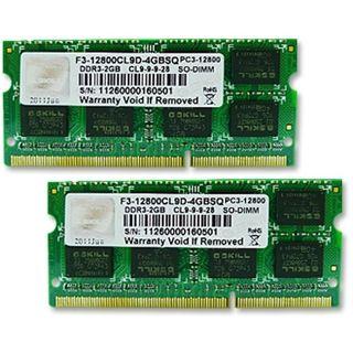 4GB G.Skill SQ Series DDR3-1600 SO-DIMM CL9 Dual Kit