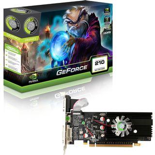 1GB Point of View GeForce 210 Low Profile Aktiv PCIe 2.0 x16 (Retail)