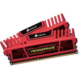 8GB Corsair Vengeance Red DDR3-1600 DIMM CL7 Dual Kit