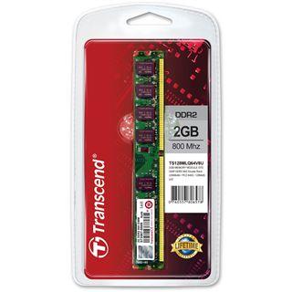 2GB Transcend TS256MLQ64V8U DDR2-800 DIMM CL5 Single