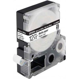 Epson LC-4WBB9 schwarz auf mattweiß Etikettenkassette (1 Rolle