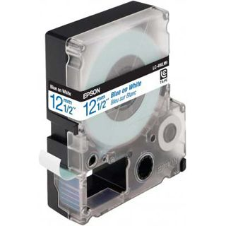 Epson LC-4WLN9 blau auf weiß Etikettenkassette (1 Rolle (1.2 cm