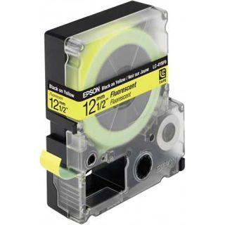 Epson LC-4YBF9 schwarz auf gelb Etikettenkassette (1 Rolle (1.2 cm x
