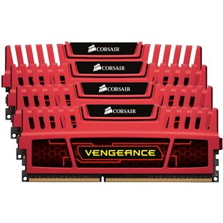 32GB Corsair Vengeance rot DDR3-1866 DIMM CL10 Quad Kit