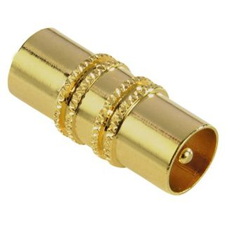 Hama Antennen-Adapter, Koax-Stecker - Koax-Stecker, vergoldet