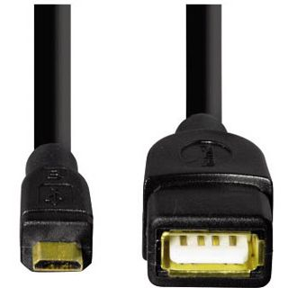 1.80m Hama USB2.0 Verlängerungskabel USB A Buchse auf USB mikroB