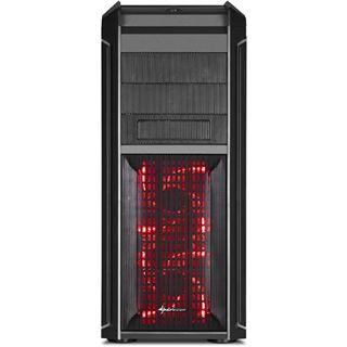 Sharkoon Tauron Midi Tower ohne Netzteil schwarz/rot
