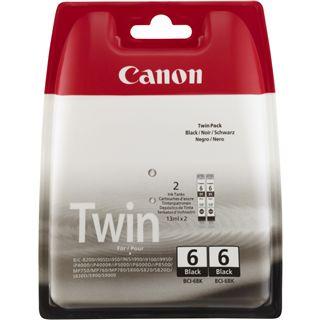 Canon Tinte BCI-6BK 2er-Pack 4705A046 schwarz
