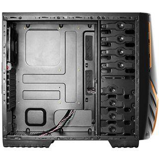 Raidmax Viper Midi Tower ohne Netzteil schwarz/orange