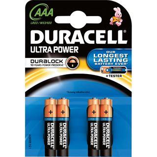 Duracell Ultra Power LR03 Alkaline AAA Micro Batterie 1.5 V 4er Pack