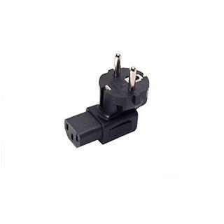 Good Connections Stromadapter gewinkelt Schutzkontakt Stecker auf