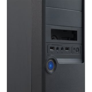 Inter-Tech SY-107 Midi Tower 500 Watt schwarz
