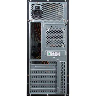 Inter-Tech SY-117 Midi Tower 500 Watt schwarz/braun