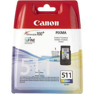 Canon Tinte CL-511 2972B009 cyan, magenta, gelb