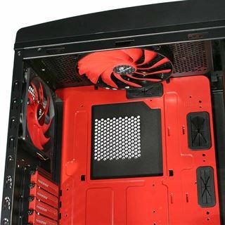 Cooltek Skiron Midi Tower ohne Netzteil schwarz/rot