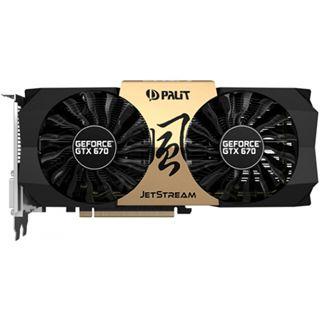 2GB Palit GeForce GTX 670 JetStream Aktiv PCIe 3.0 x16 (Retail)