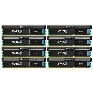 64GB Corsair XMS3 DDR3-1333 DIMM CL9 Octa Kit
