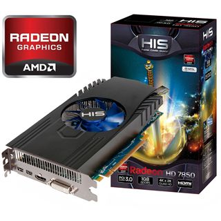 1GB HIS Radeon HD 7850 GDDR5 Aktiv PCIe 3.0 x16 (Retail)