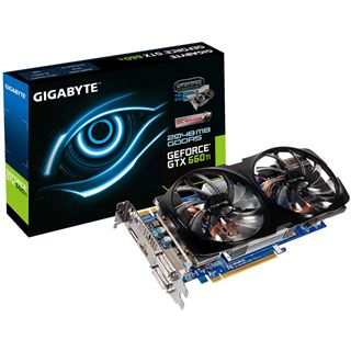 2GB Gigabyte GeForce GTX 660 Ti Windforce 2X Aktiv PCIe 3.0 x16