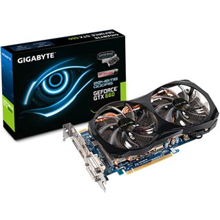 2GB Gigabyte GeForce GTX 660 OC 2xWindforce Aktiv PCIe 3.0 x16