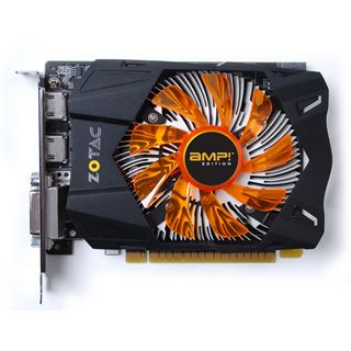 2GB ZOTAC GeForce GTX 650 AMP! Edition Aktiv PCIe 3.0 x16 (Retail)