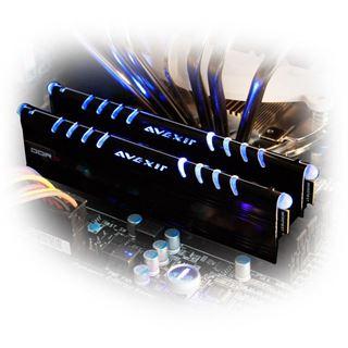 16GB Avexir Core Series blaue LED DDR3-1333 DIMM CL9 Dual Kit