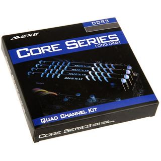 16GB Avexir Core Series blaue LED DDR3-1600 DIMM CL9 Quad Kit