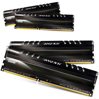 32GB Avexir Core Series blaue LED DDR3-1333 DIMM CL9 Quad Kit