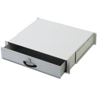 Digitus Schublade für Netzwerkschränke 2HE grau