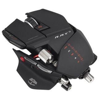 Mad Catz Cyborg R.A.T 9 6400 dpi USB schwarz (kabellos)