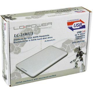 "LC-Power LC-25WU3 2.5"" (6,35cm) USB 3.0 weiss"