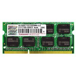 8GB Transcend DDR3-1333 SO-DIMM CL9 Single