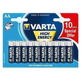 Varta High Energy LR6 Alkaline AA Mignon Batterie 1.5 V 10er Pack