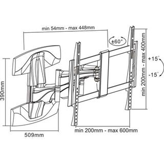 InLine 23110B Wandhalterung schwarz/silber