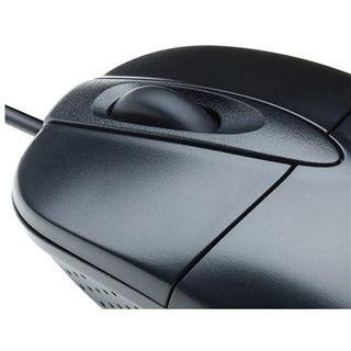 V7 Optische Maus PS/2 schwarz/silber (kabelgebunden)